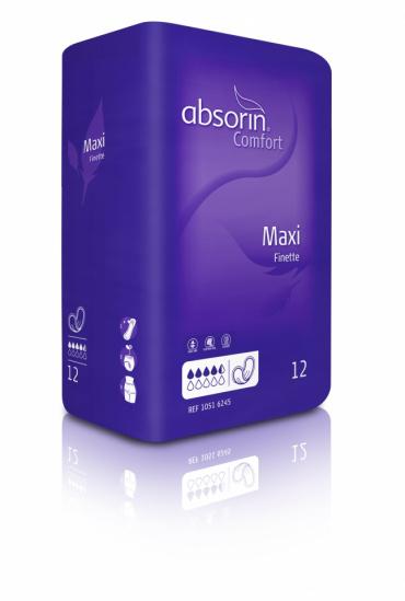 ABSORIN Comfort Finette Maxi (doos 24 x 12 stuks)